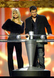 Jessica Simpson and Nick Lachey presented the digital track of the year award onstage during the 2003 fun.