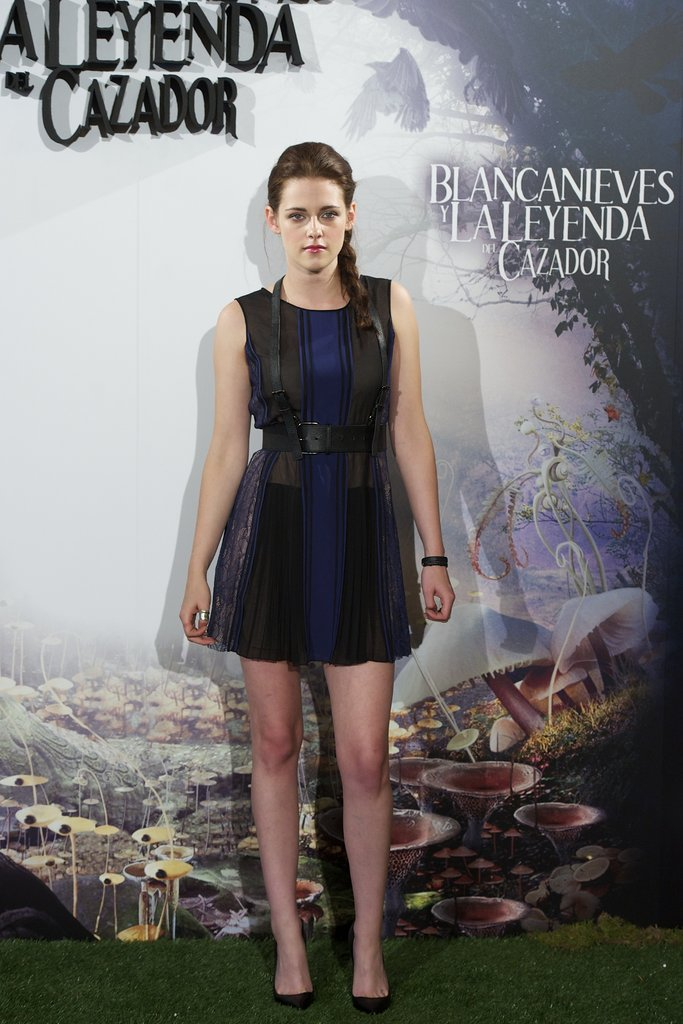 Kristen Stewart posed at the Snow White and the Huntsman photocall in Madrid.