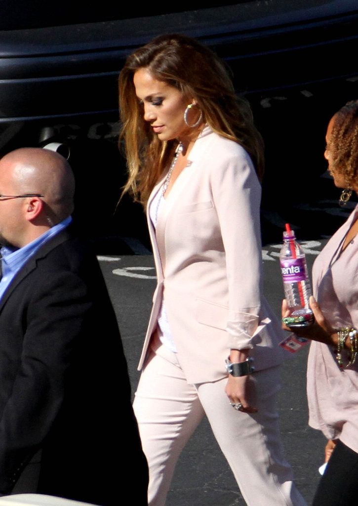 Jennifer Lopez went to work.