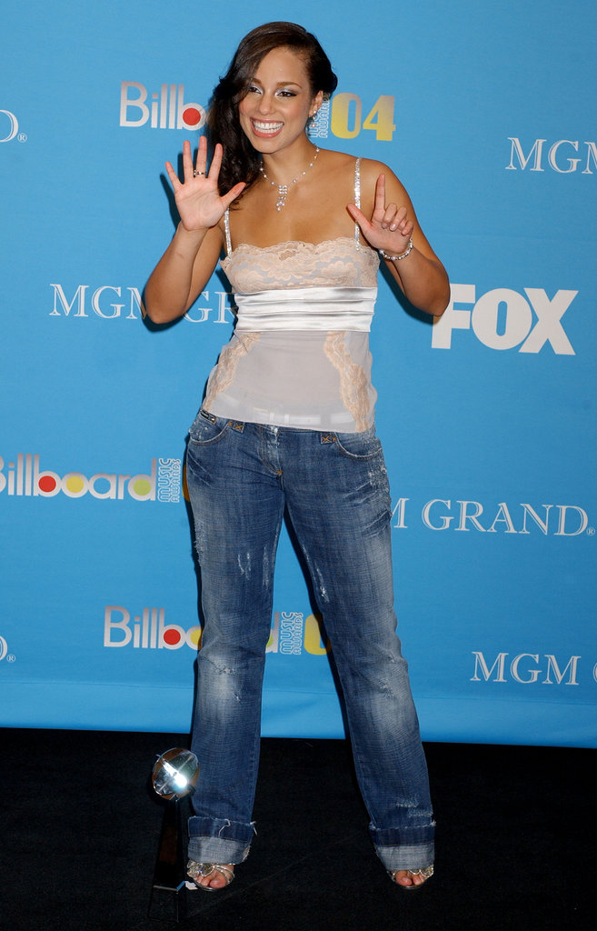 Alicia Keys got excited about the seven awards she picked up in 2004.