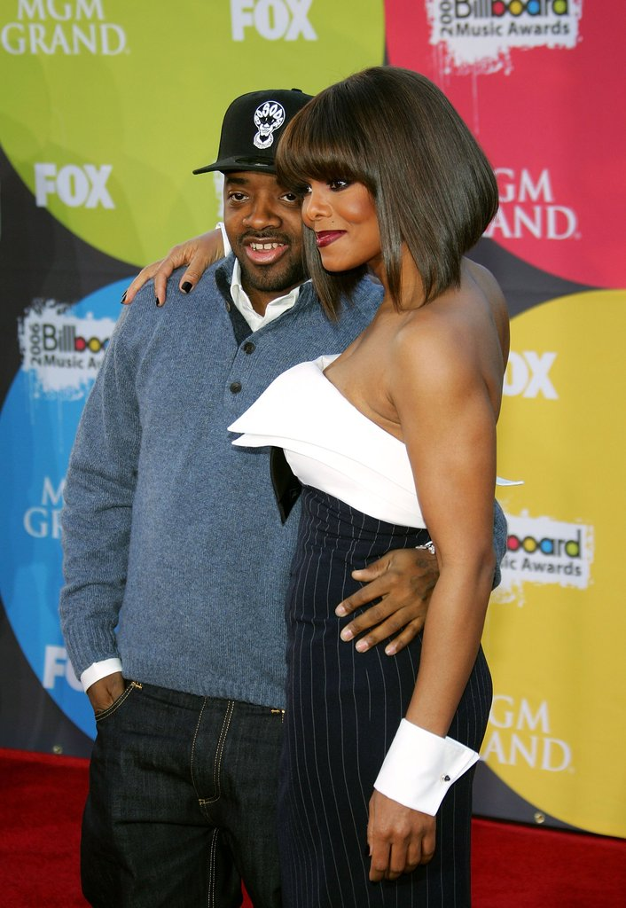 Jermaine Dupri and Janet Jackson got close on the Billboard red carpet in 2006.