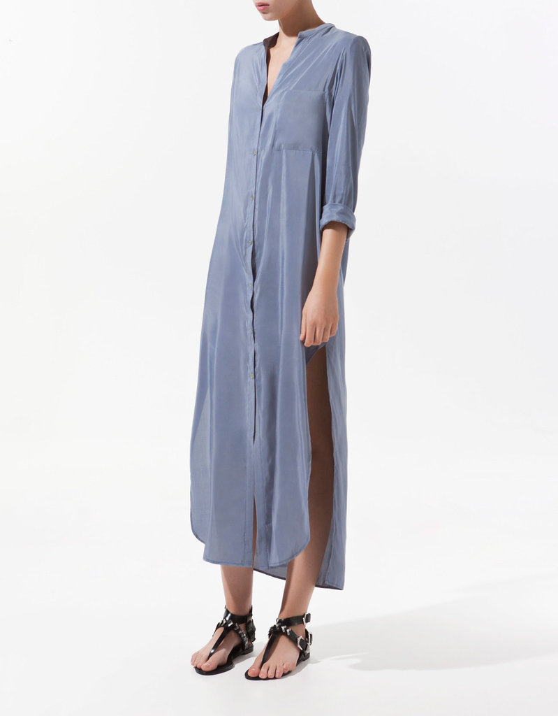 For a maxi look worthy of work, try a longer shirtdress, then pair it with a cool pair of white brogues. Zara Shirt-Style Tunic ($60)