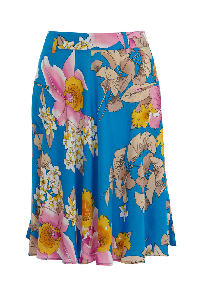 This colorful skirt shows off the season's ladylike trend perfectly. A more modest length and swing shape paired with a bright print? We're sold. Warehouse Eastern Tropic Skirt ($50)
