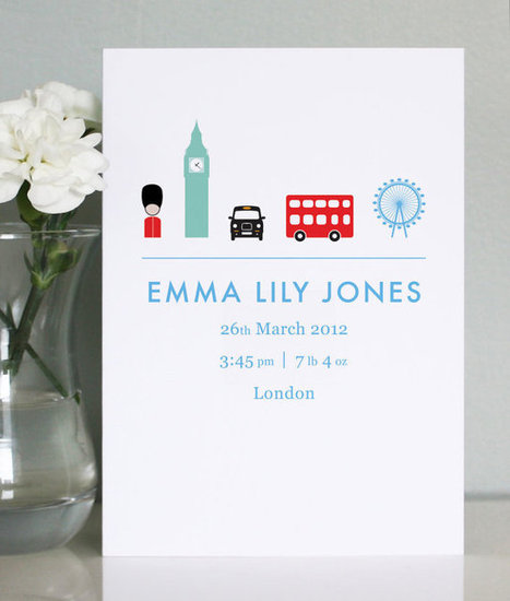 One Little Dicky Bird Personalized Birth Announcement Cards ($290 for 100)