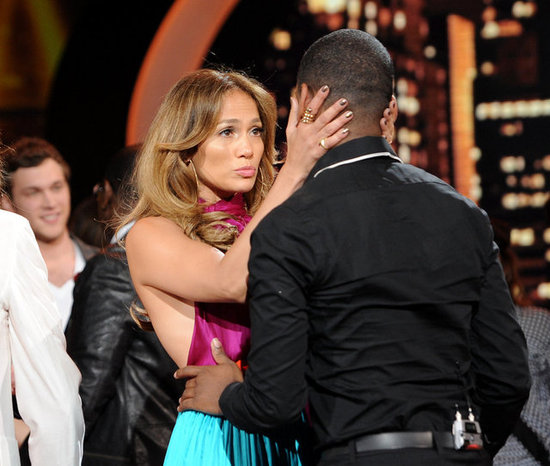 Jennifer Lopez said an emotional goodbye to Joshua Ledet after his American Idol elimination.