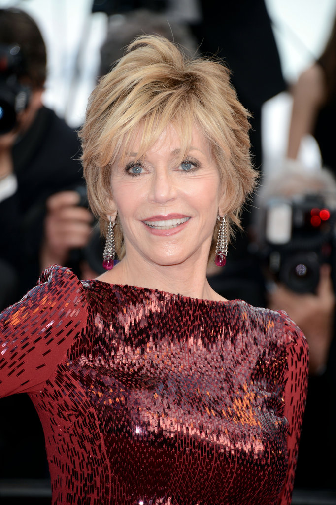 Jane Fonda smiled for the camera in Cannes.
