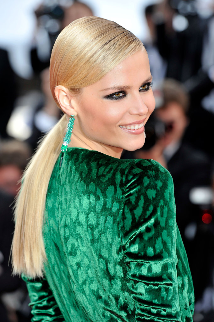 Anna Falchi was glowing in green at the premiere of Madagascar 3: Europe's Most Wanted.