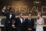 Jessica Chastain and the guys posed for photos in Cannes.