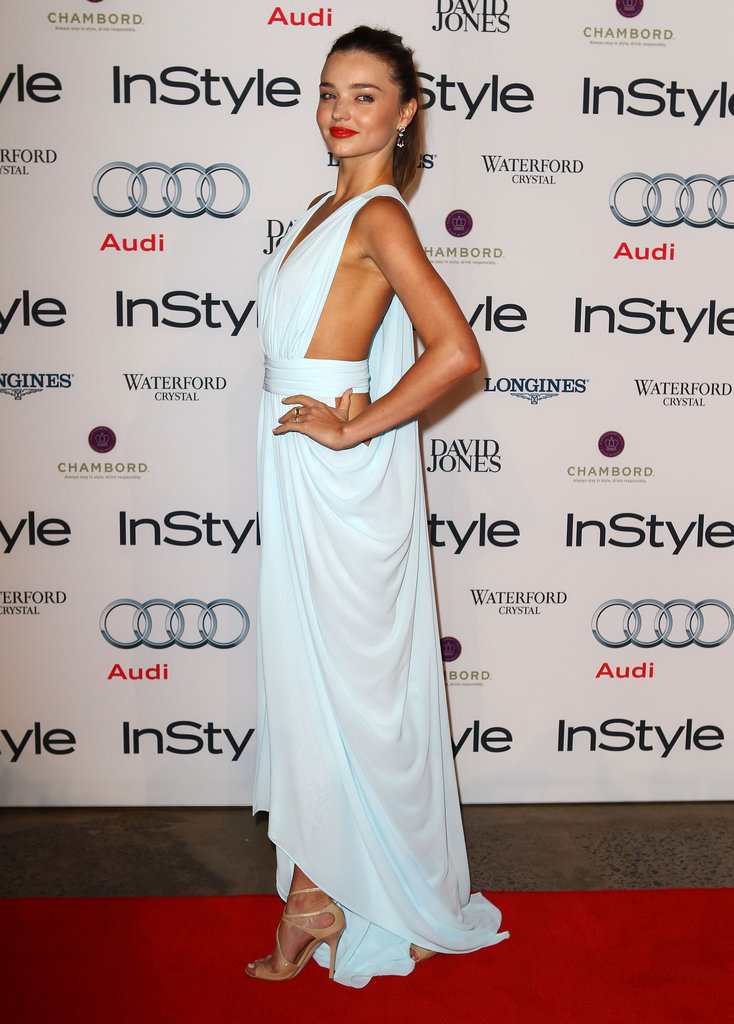 Miranda Kerr was a vision in a sky-blue Carla Zampatti gown at the Women of Style Awards.