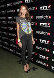 Ashley Madekwe rocked a vintage tee and heels — and made us want to do the same.