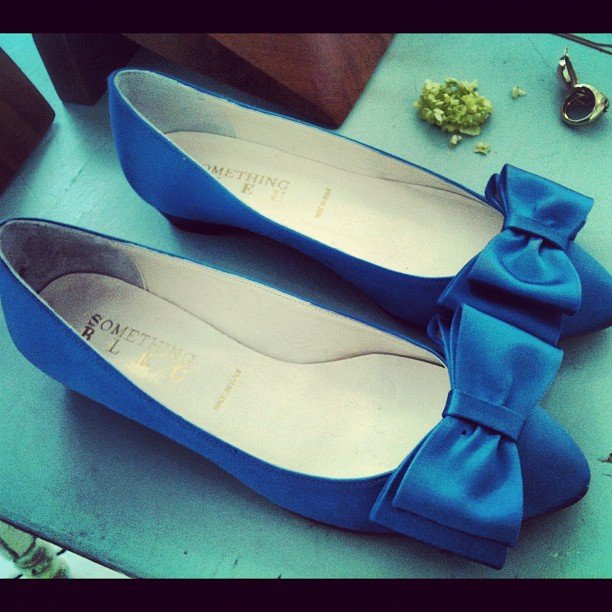 The perfect something-blue at BHLDN's preview.