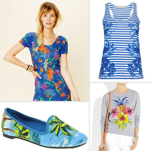 Tropical Print Dresses and Pants