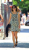 Alexa Chung was the picture of Summer style in a breezy, printed sundress out and about in NYC.