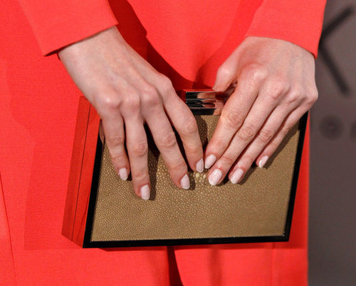 Are you a fan of Jessica Chastain's neutral-toned clutch?