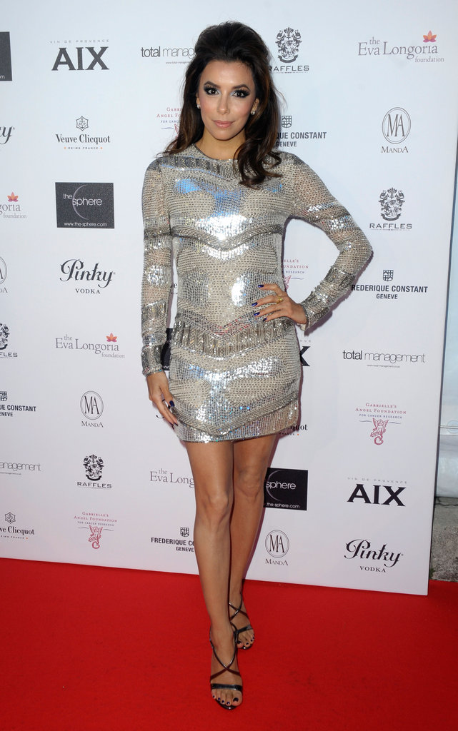 Eva Longoria glowed on the red carpet while she cohosted her Charity Cocktail Evening.