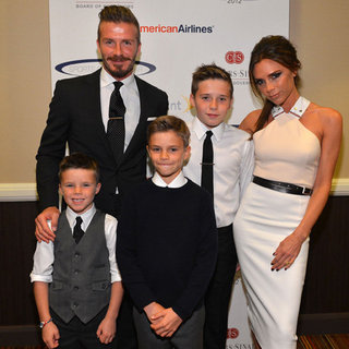 Victoria and David Beckham Pictures With Brooklyn, Romeo and Cruz at Sports Spectacular Benefit