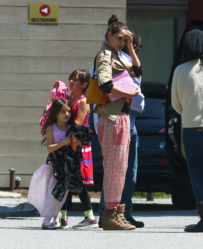 Katie Holmes and Suri Cruise stepped out in Baton Rouge.