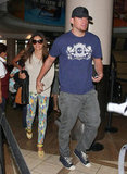 Jenna Dewan and her husband Channing Tatum were spotted at LAX.