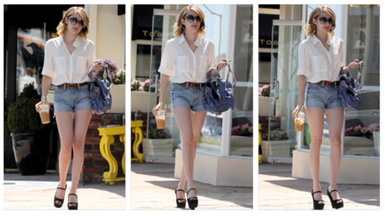 See How Emma Roberts Lends Polish to Everyday Denim Cutoffs