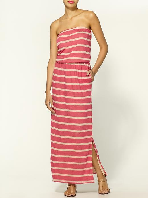 This is the perfect dress to slip into for a lazy day around the city or by the beach. Hive & Honey Striped Slub Maxi Dress ($49)