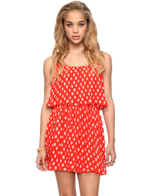 A fresh take on polka dots that'll jazz up your weekend wear. Forever 21 Pleated Polka Dot Dress ($25)