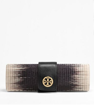 We love how the ombré dresses up a great woven Summer staple.  Tory Burch Ombré Clutch ($250)