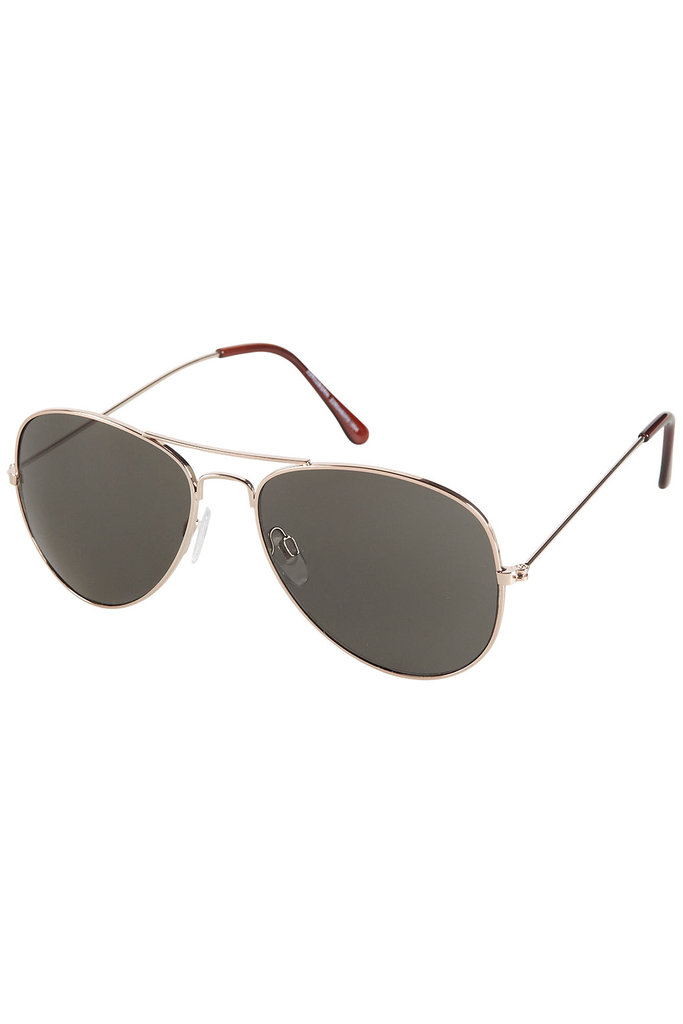 This pair of aviators lends that classic-feeling cool — and we love that they look just as effortless with cutoffs as they do with sundresses.  Topshop Small Aviator Sunglasses ($20)