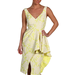 Badgley Mischka lime peplum dress ($520)