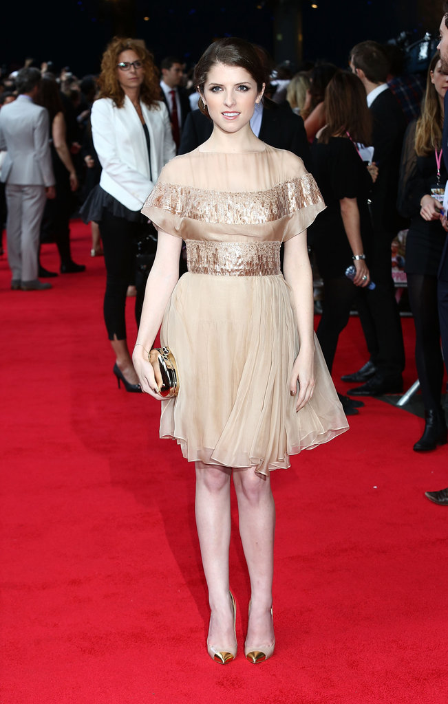 Anna Kendrick wore a knee-length dress to the UK premiere of What to Expect When You're Expecting.