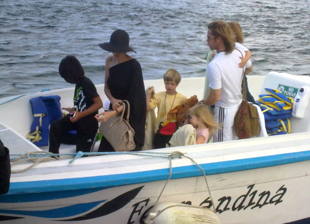 The Jolie-Pitts spent a day at sea during a trip to the Galapagos Islands in April 2012.