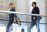 Kirsten Dunst and boyfriend Garrett Hedlund were at LAX.