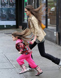 Katie Holmes and Suri Cruise went on the run.