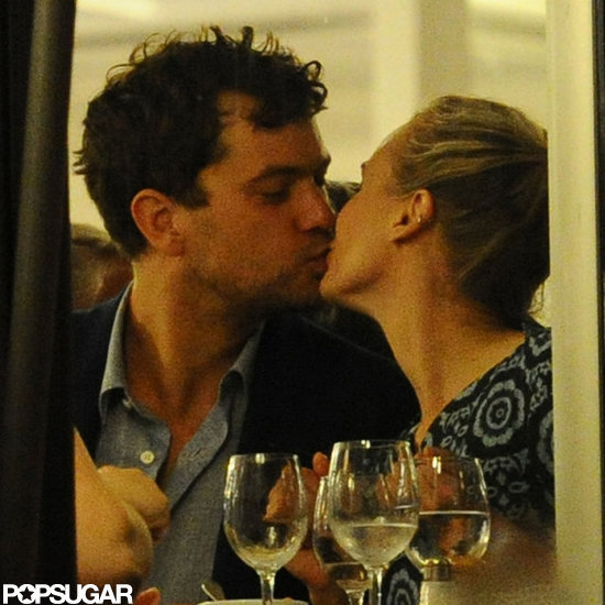 Joshua Jackson and Diane Kruger kissed.