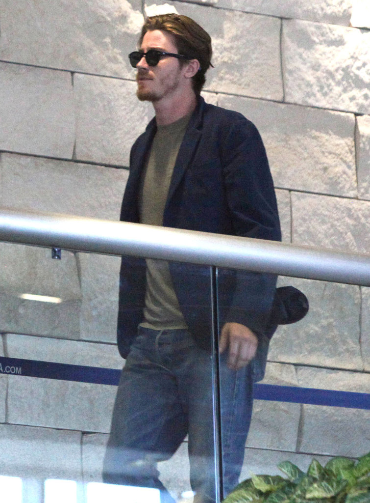 Garrett Hedlund was ready for a flight to France.