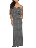 Throw this one in your bag for your next beach getaway. It's comfortable enough to live in and dressy enough to pull off at dinner out.  Arden B Ruffle Stripe Maxi Dress ($49)