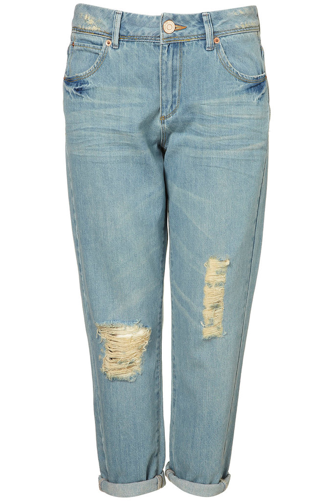 Topshop MOTO Bleach Ripped Crop Jeans ($70)