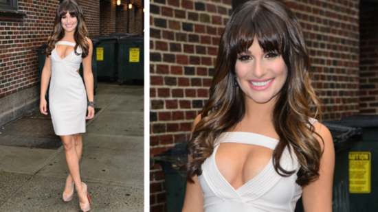 Lea Michele Shows Serious Skin in Her White Dress