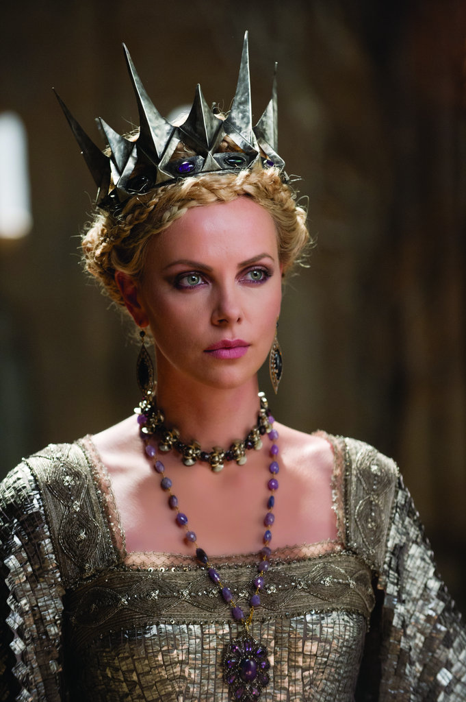 Purple, the color of royalty, is a fitting choice for Ravenna's gemstone amethyst necklace.  Photo courtesy of Universal Pictures