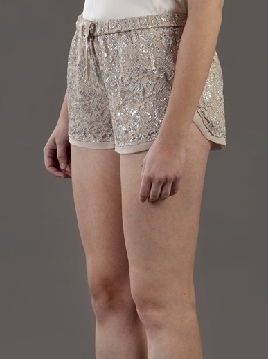 Haute Hippie lace shorts ($225)
