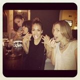 Jessica Alba enjoyed yummy desserts with friends.  Source: Instagram user therealjessicaalba
