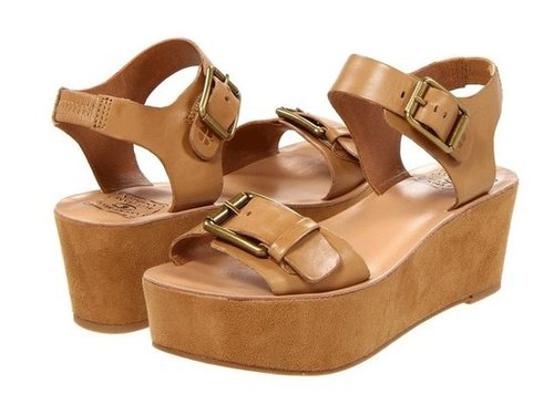 Looking for a little extra height? These streamlined, camel-colored platforms will carry you through the season.  Lucky Brand Gracelynn Sandals ($89)