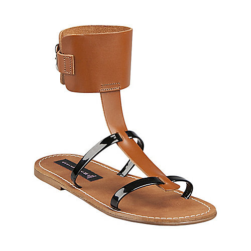 A simple black-and-camel color palette makes the unique shape wearable for your everyday.  Steve Madden Ares Sandal ($90)