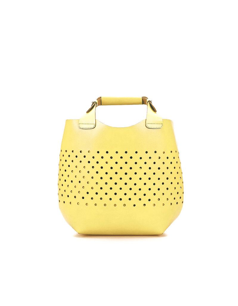The sunniest (literally!) of Summer styles.  Zara Die-Cast Mini Shopper ($100)