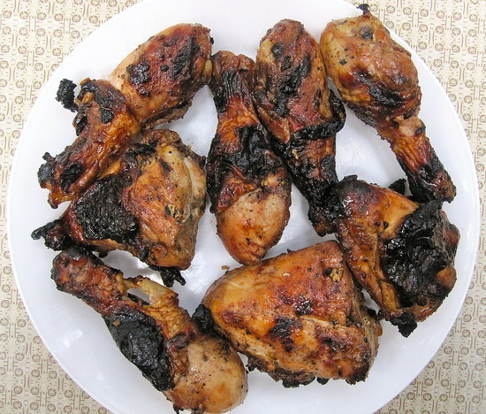Brown-Sugar-Crusted Grilled Chicken