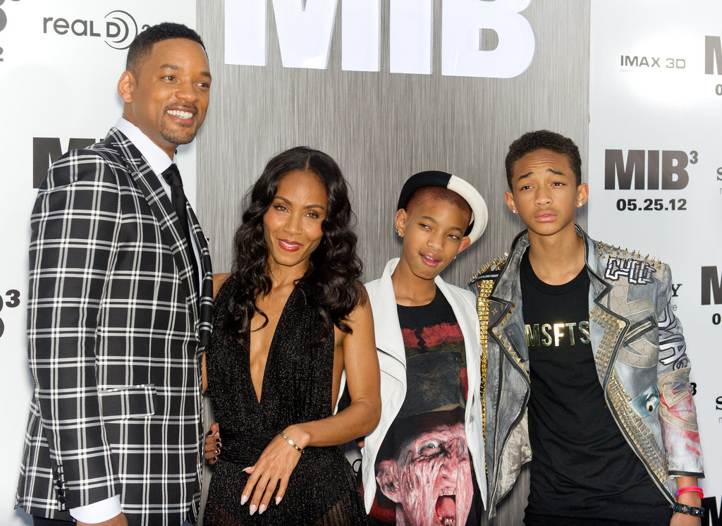 Will Smith was accompanied by his family Jada Pinkett-Smith, Willow Smith, and Jayden Smith at the Men in Black III premiere in NYC.