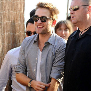 Robert Pattinson Talking Cosmopolis in Cannes Pictures