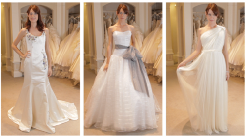 Fab's showing you three gorgeous gowns that are perfect for an outdoor or garden ceremony.
