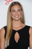 Bar Refaeli looked stunning with her long blond locks straightened.
