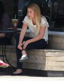 Lauren Conrad made a Starbucks stop in LA.