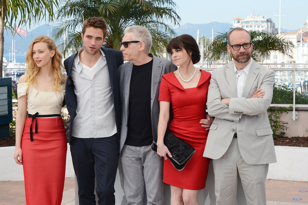 Robert Pattinson posed with his cast-mates at  the Cosmopolis photocall in Cannes.